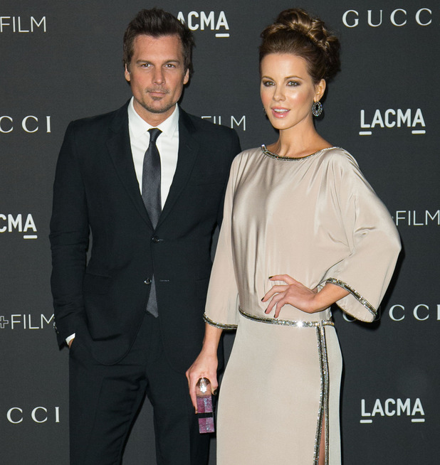 2014 LACMA Art+Film Gala honoring Barbara Kruger and Quentin Tarantino presented by Gucci - Arrivals Kate Beckinsale and Len Wiseman