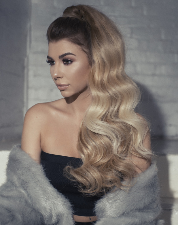 Love Island star Olivia Buckland on Hair Rehab London shoot, half wig and wrap ponytail, 25 October 2016