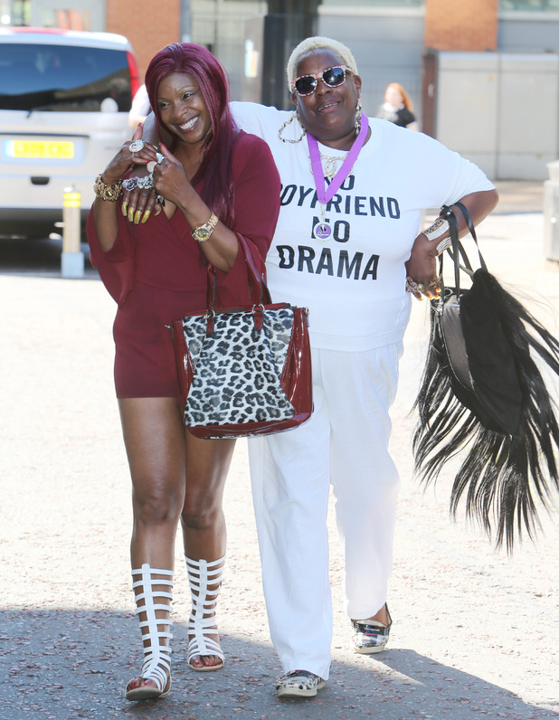 Sandy Channer and Sandra Martin, Gogglebox - outside ITV studios, London July 2016