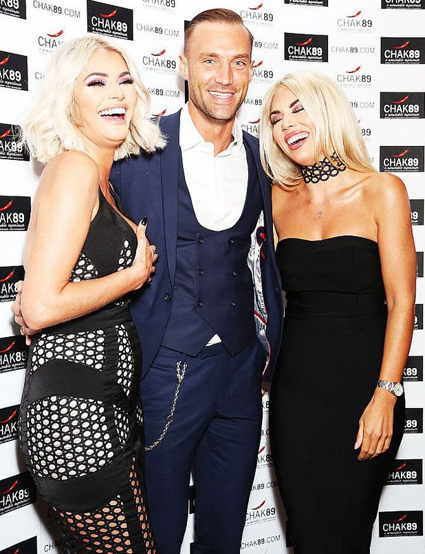 Chloe Sims, Calum Best and Frankie Essex attend the annual Elbrook Gala Dinner in aid of The British Asian Trust and their newly launched 'Give A Girl A Future' appeal, at Chak 89 on October 27, 2016 in Mitcham, United Kingdom.