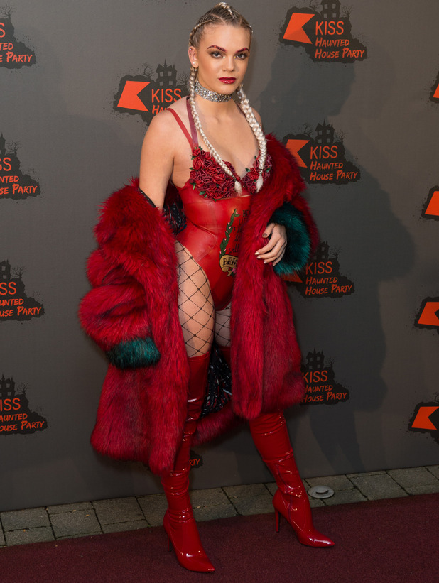 X Factor star Louisa Johnson at the KISS FM Haunted House Party, London, 27 October 2016