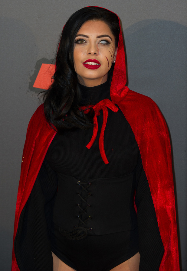 Love Island's Cara de la Hoyde at the KISS FM Haunted House Party, London, 27 October 2016