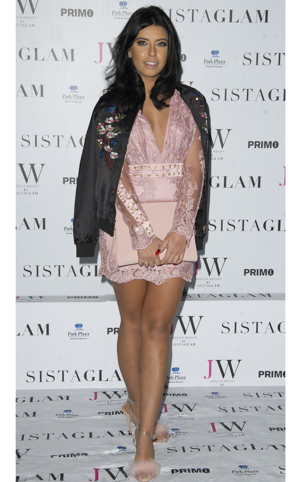 Love Island star Cara de la Hoyde attends the Sistaglam launch party, London 26 October 2016