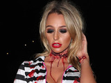 TOWIE's Amber Dowding filming the Halloween special at Thorpe Park, Chertsey, 26 October 2016