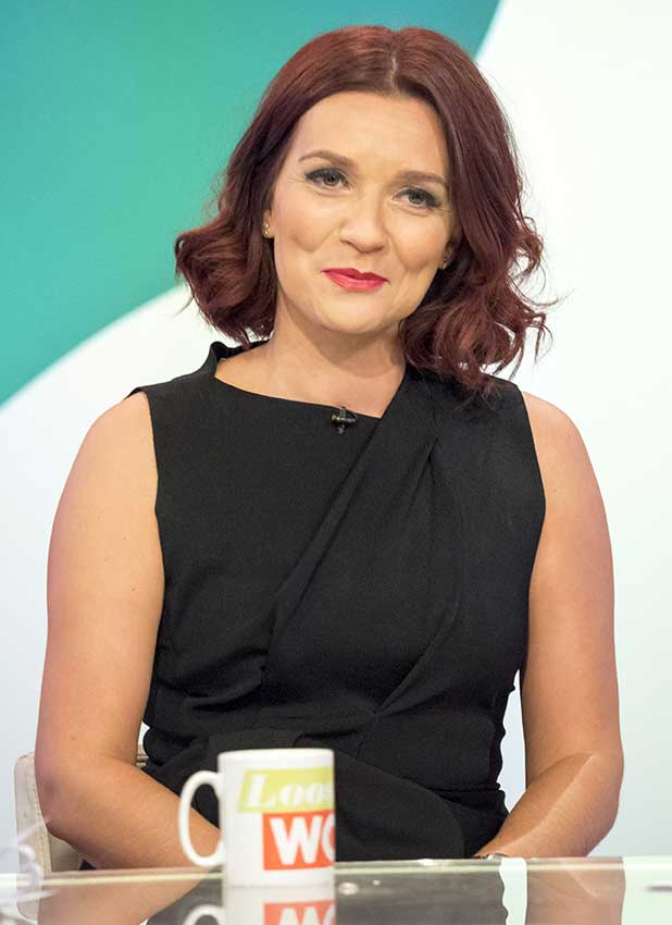 Great British Bake Off winner Candice Brown shows off her red hair on Loose Women, 27 October 2016