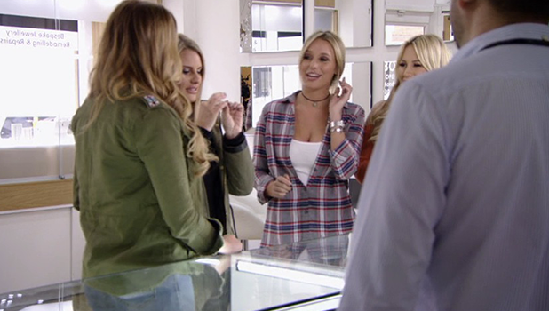 TOWIE Series 19: Georgia Kousoulou looks at diamonds rings and talks to the girls about Tommy 26 October 2016