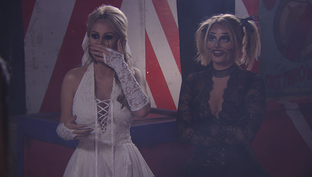 TOWIE: Chloe Lewis and Kate Wright come face to face at Halloween party 30 October 2016
