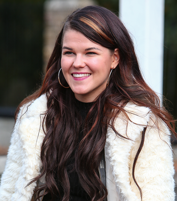 Saara Aalto leaves rehearsals for this week's X Factor live show 26 October 2016