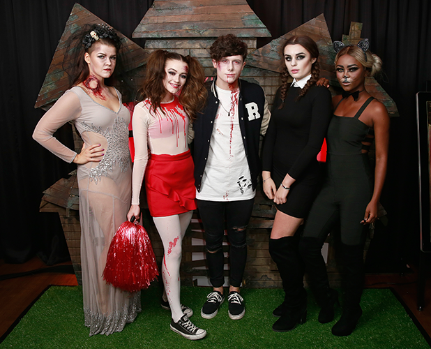 Saara Aalto, Emily Middlemas, Ryan Lawrie, Samantha Lavery, Gifty Louise at Kiss FM's Halloween party 2016
