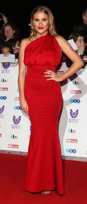 TOWIE star Georgia Kousoulou on the Pride of Britain Awards red carpet, 1 November 2016
