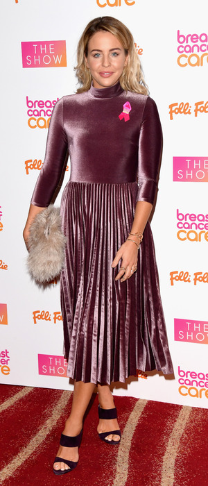 Lydia Bright at Breast Cancer Care Fashion show, London, 2 November 2016