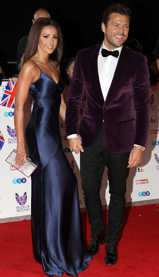 Michelle Keegan and Mark Wright attend the Pride of Britain Awards 2016, Grosvenor House Hotel, 31 October 2016