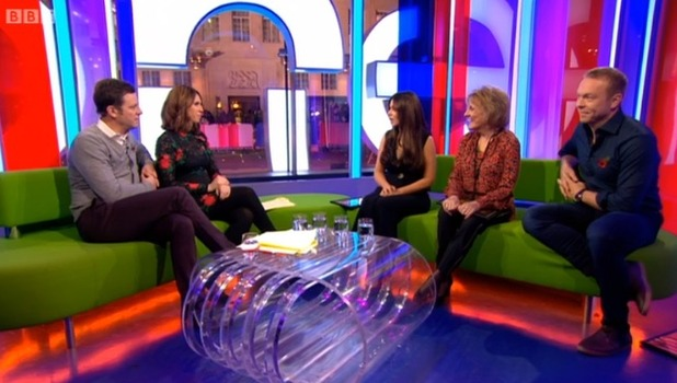 Cheryl appears on The One Show - 2 Nov 2016