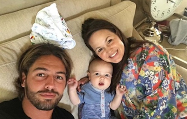 Mario Falcone and Giovanna Fletcher with her son Buddy, Instagram 1 November