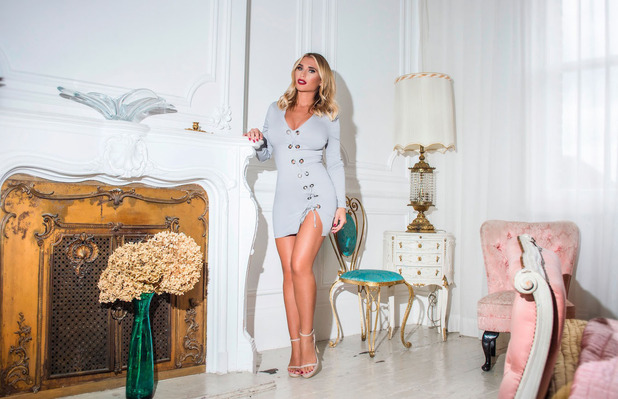 Former TOWIE star Billie Faiers unveils her Christmas collection with In The Style, lace dress, 2 November 2016
