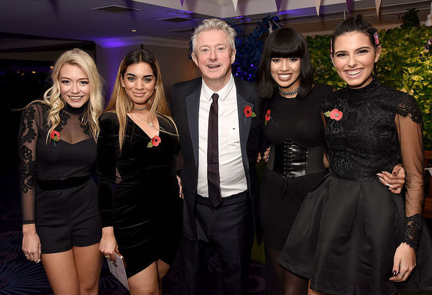 Louis Walsh and Four Of Diamonds at Pride of Britain Awards 2016, Grosvenor House Hotel, 31 October 2016