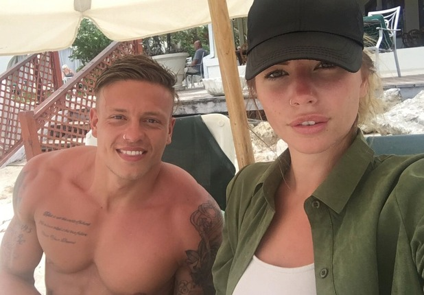 Olivia Buckland and Alex Bowen in Barbados, Twitter 2 November