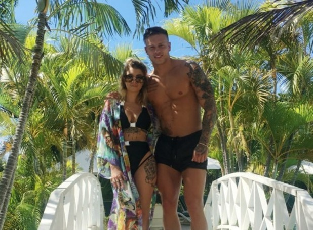 Alex Bowen and Olivia Buckland holidaying in Barbados 31 October