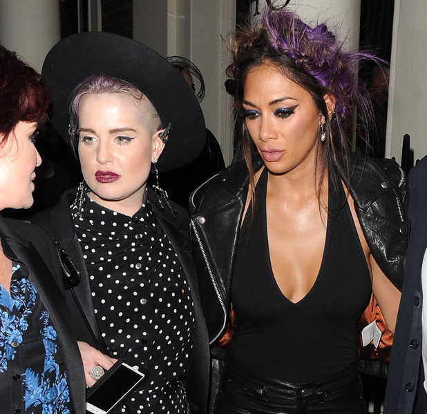 Nicole Scherzinger parties in London with Kelly Osbourne, London, 30 October 2016