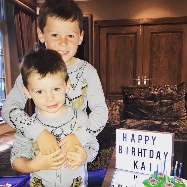 Wayne and Coleen mark son Kai's birthday with misspelt message - 2 Nov 2016