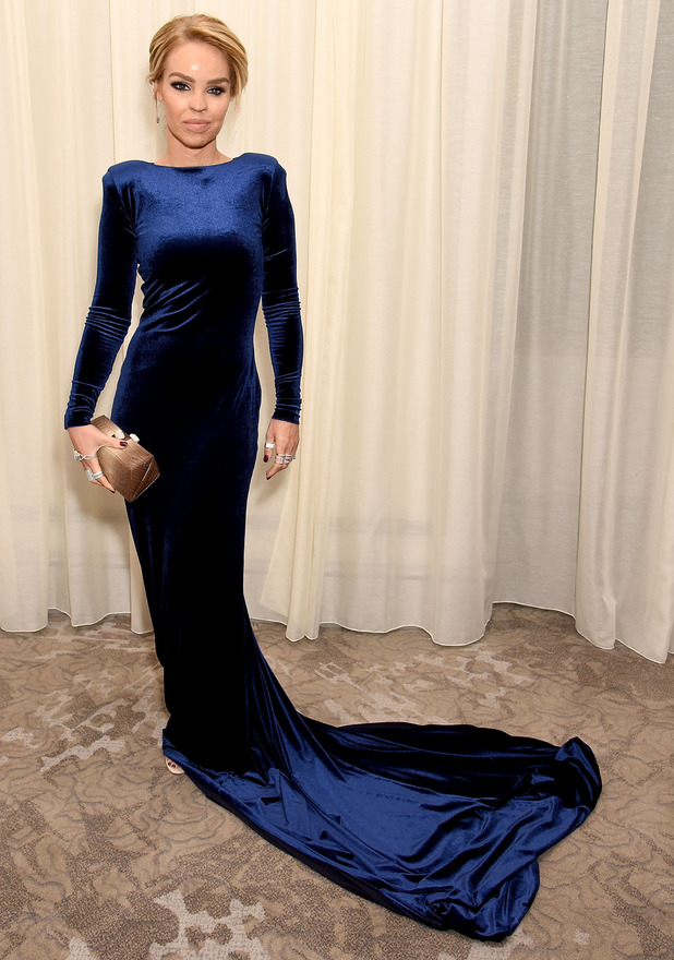 Katie Piper attends the Pride of Britain Awards in velvet gown, London, 31 October 2016