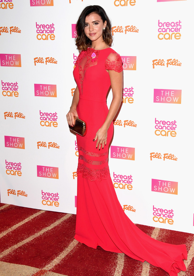 Former TOWIE star Lucy Mecklenburgh at the Breast Cancer Care Fashion Show, London, 2 November 2016