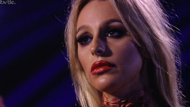 TOWIE: Amber and Chris talk at Halloween 30 October 2016