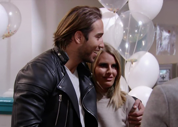 Danielle Armstrong and James Lock in a TOWIE episode 2016