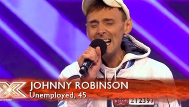 Johnny Robinson on X Factor