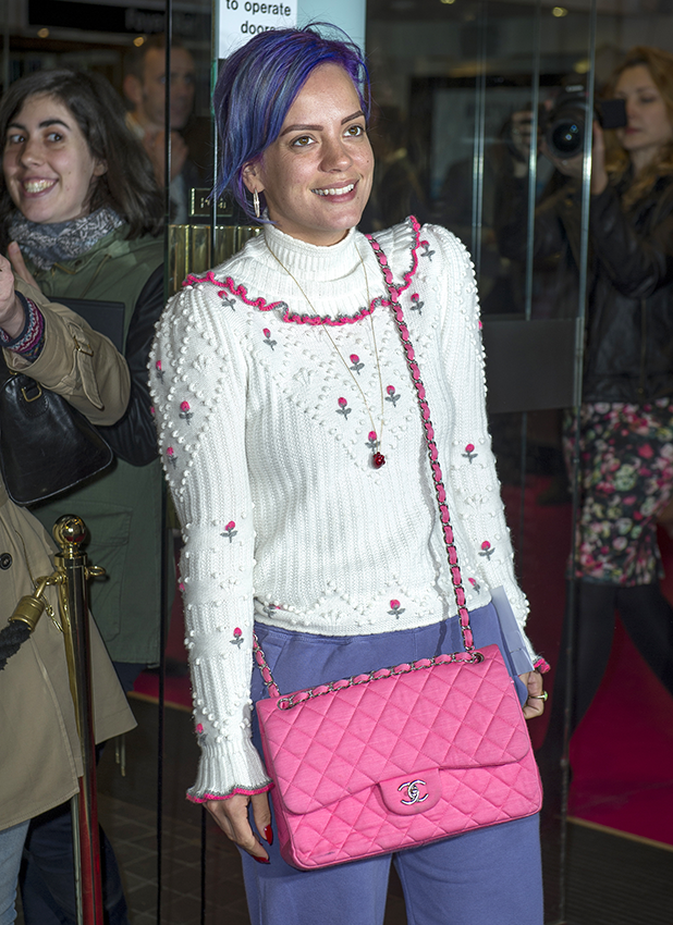 Lily Allen at the theatre in London 2016