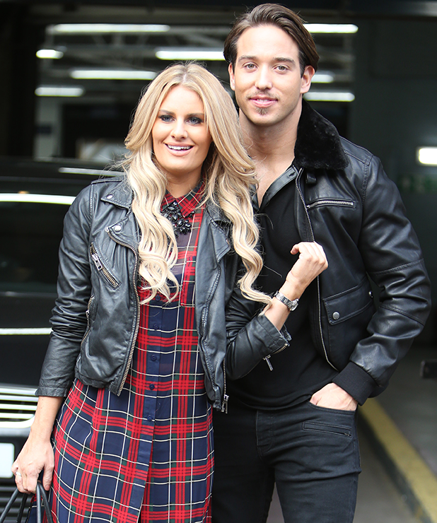 Danielle Armstrong and James Lock outside ITV studios 2014