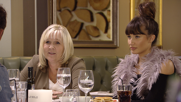 TOWIE's Megan and her parents meet Pete for birthday lunch, but Megan's angry about sexy modelling photos Bonfire Night 6 November 2016