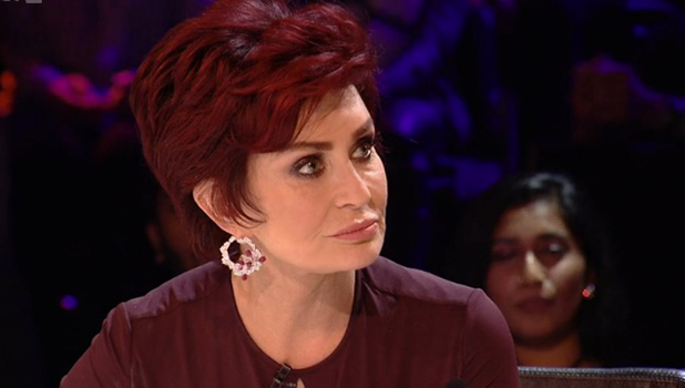 Sharon Osbourne on Xtra Factor ITV2, 30 October 2016