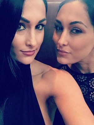 Nikki Bella with Brie Bella, Instagram November 2016