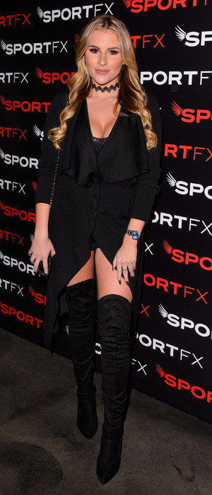 TOWIE star Georgia Kousoulou at the SPORTFX cosmetic and sports launch party, London, UK - 10 Nov 2016