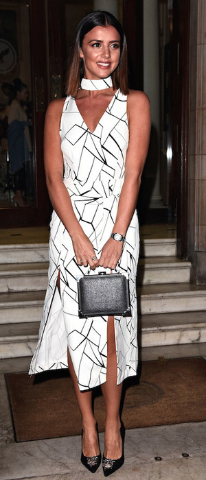 Former The Only Way Is Essex star Lucy Mecklenburgh, at Boux Avenue party, London