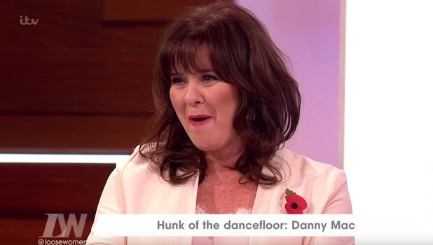 Coleen Nolan on Loose Women, ITV 8 November