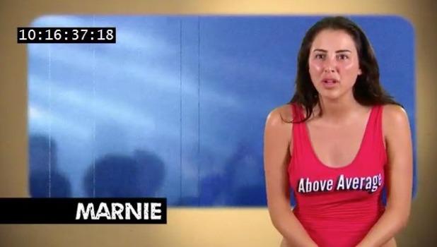 Marnie Simpson and Aaron Chalmers clash, Geordie Shore 8 November