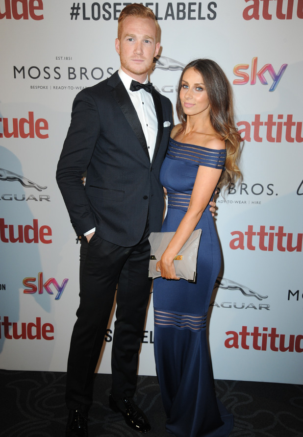 Greg Rutherford and Susie Verrill at the Attitude Awards 2016, London, 10 October 2016