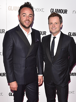 Ant & Dec at Glamour Awards 2016