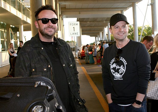I'm A Celebrity Get Me Out Of Here stars arrive at Brisbane airport in Australia Ant & Dec
