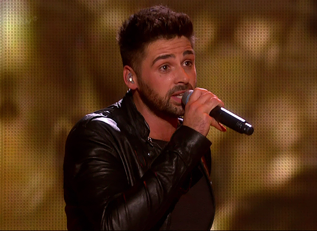 Ben Haenow performing the winner's song 'Something I Need' after he was named the winner of The X Factor 2014 on the final of 'The X Factor'. Shown on ITV1 HD.