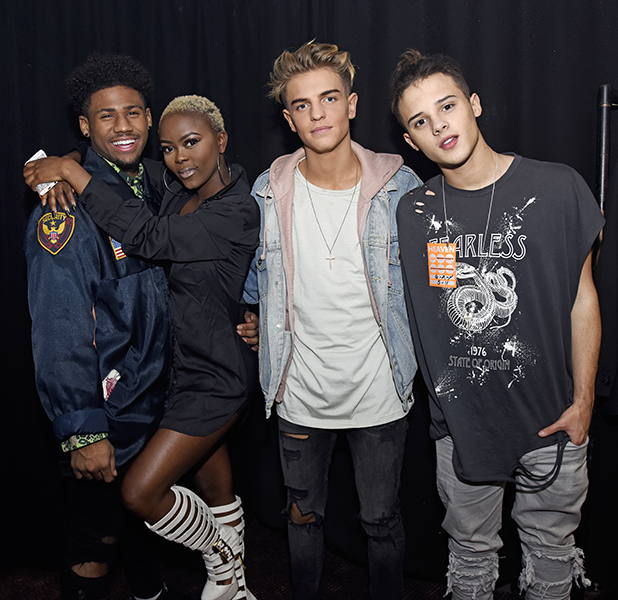X Factor evictee Gifty Louise performs at G-A-Y in London. Gifty was joined back stage by fellow X Factor contestants Freddy Parker, Jordan Lee from 5 After Midnight and the Brooks twins.