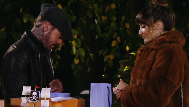 TOWIE: Pete and Megan at Bonfire Night where she gives him a memory book 2016