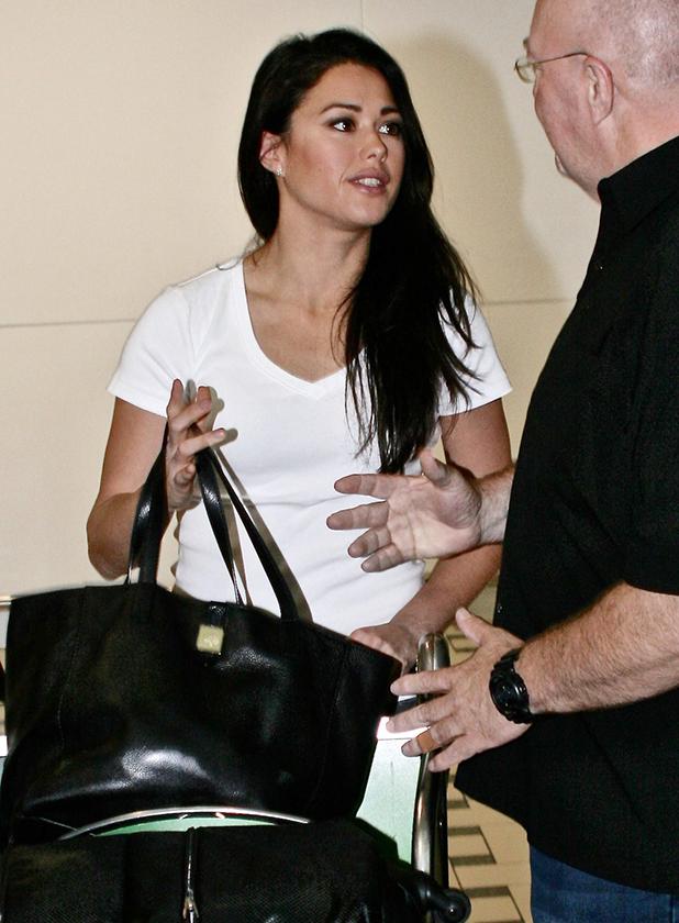 I'm A Celebrity Get Me Out Of Here stars arrive at Brisbane airport in Australia Sam Quek