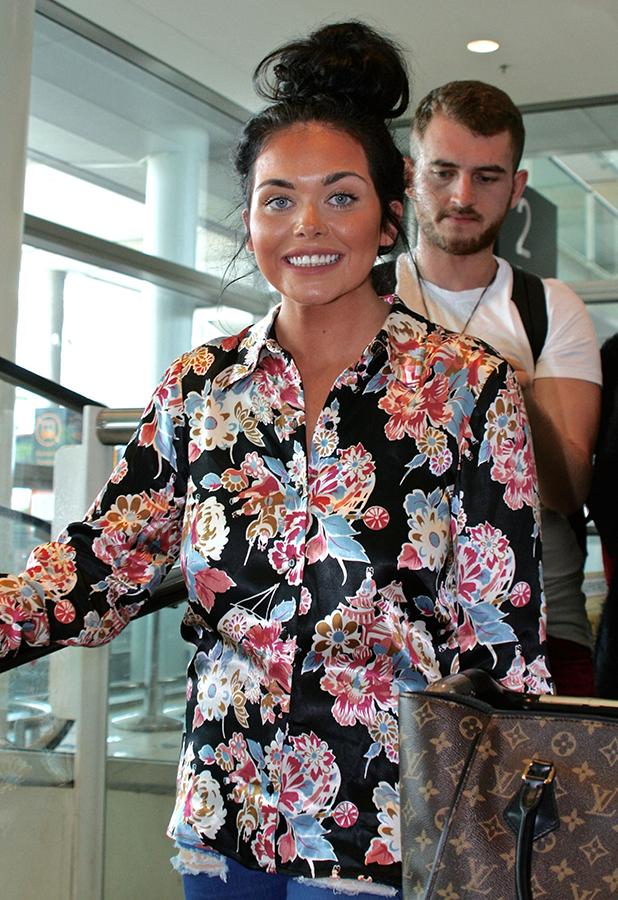 I'm A Celebrity Get Me Out Of Here stars arrive at Brisbane airport in Australia Scarlett Moffatt