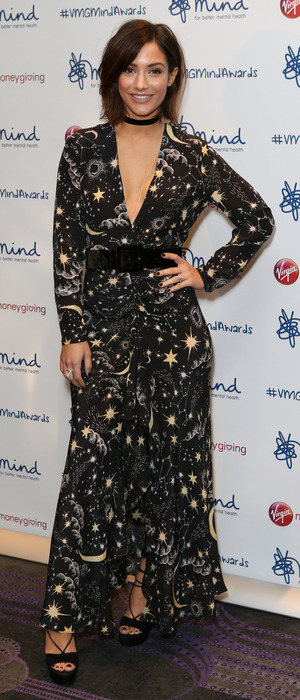 Frankie Bridge attends the Virgin Money Giving Minds Awards, London, 14 November 2016