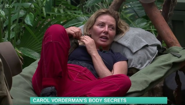 Carol Vorderman and Joel Dommett, I'm A Celebrity via This Morning 15 November