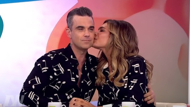 Robbie Williams and wife Ayda Field, Loose Women 14 November