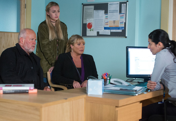 EastEnders, the Mitchells at the hospital, Mon 21 Nov